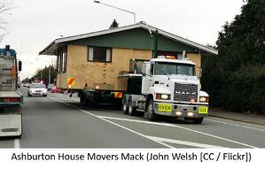 House on a truck.