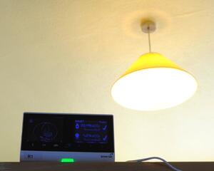 British Gas SMETS 1 smart energy monitor and ceiling lamp.