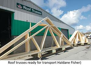 Roof trusses built by Haldane Fisher.