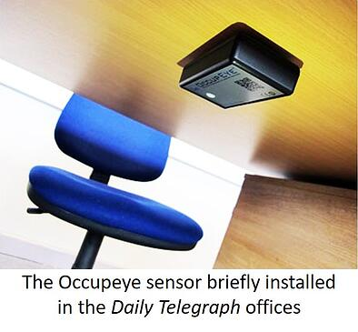 The Occupeye sensor briefly installed in the Daily Telegraph offices