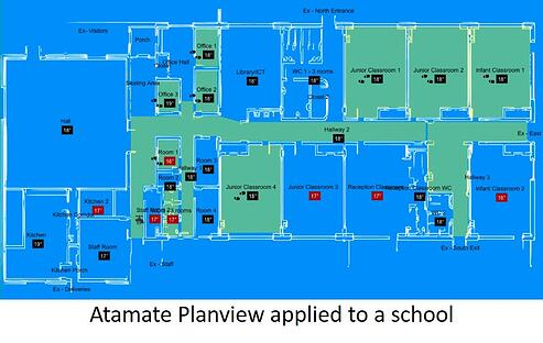 Atamate Planview map of a school interior