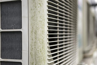 Air conditioning units in a row