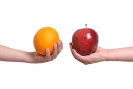 comparing apples and oranges