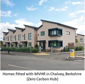 Houses in Greewatt Way fitted with MVHR.