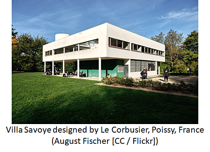 Villa Savoye designed by Le Corbusier, Poissy, France