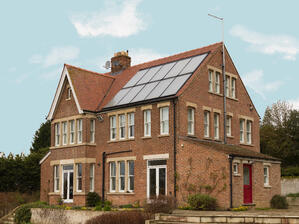 solar thermal panels on roof of home