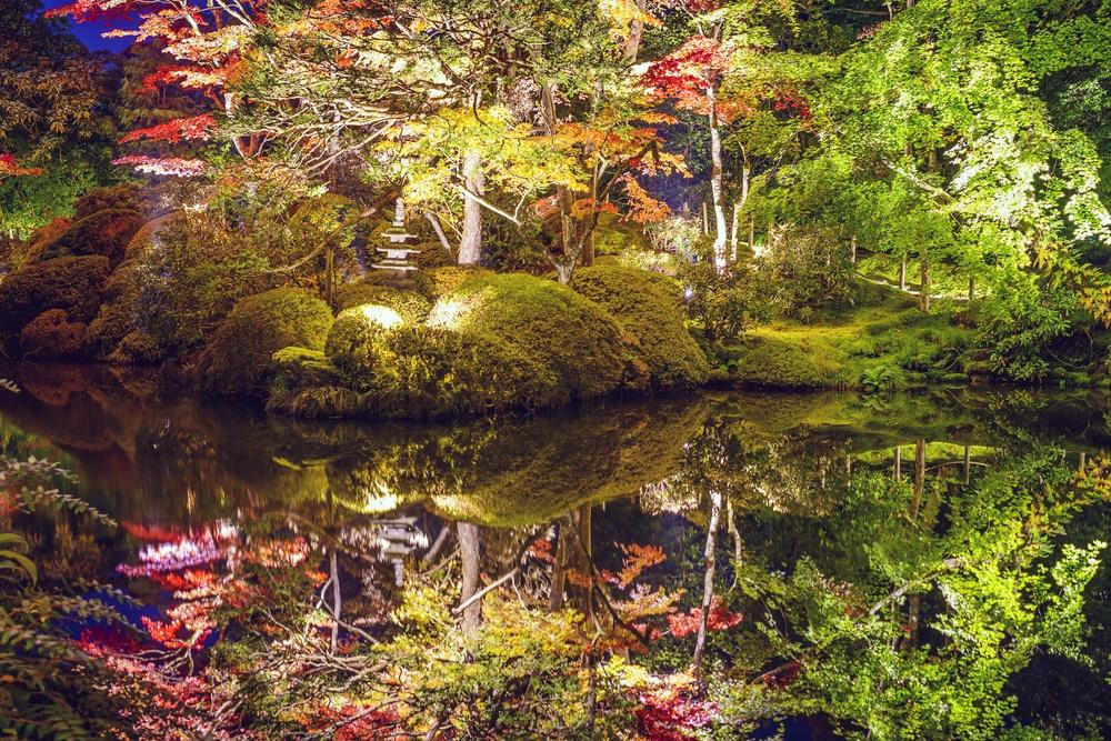 Nikko, Japan at Shoyo-en garden in the autumn.